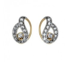 Diamond Earrings 0.20 CT / 1.65 gm Gold