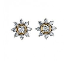 Diamond Earrings  1.32 CT / 6.39 gm Gold
