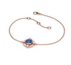 Natural Diamond & Gemstone Bracelets 0.57 CT / 4.85 gm Gold