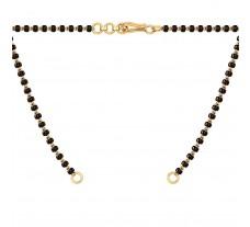 Black Beads Chain 5.10 gm Gold