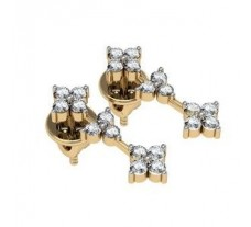 Diamond Earrings 0.44 CT / 3.21 gm Gold