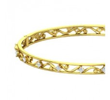 Natural Diamond Bangles 0.70 CT / 16.40 gm Gold