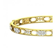 Natural Diamond Bangles 2.64 CT / 22.07 gm Gold