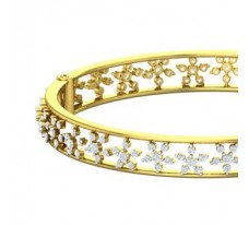 Natural Diamond Bangles 4.06 CT / 25.97 gm Gold