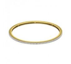Natural Diamond Bangles 2.22 CT / 12.36 gm Gold