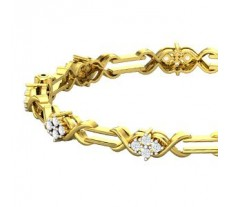 Natural Diamond Bangle 1.44 CT / 20.71 gm Gold