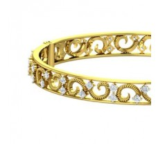 Natural Diamond Bangles 1.76 CT / 20.40 gm Gold