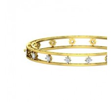 Natural Diamond Bangles 0.96 CT / 30.36 gm Gold