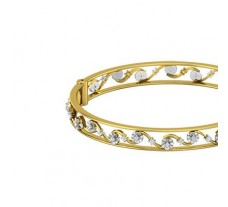 Natural Diamond Bangles 0.65 CT / 21.86 gm Gold