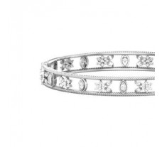 Natural Diamond Bangles 1.61 CT / 18.00 gm Gold