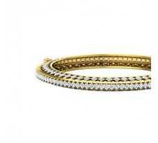 Natural Diamond Bangles 5.79 CT / 29.50 gm Gold