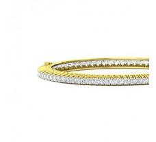 Natural Diamond Bangles 5.46 CT / 26.80 gm Gold