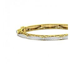 Natural Diamond Bangles 2.04 CT / 24.80 gm Gold