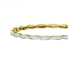 Natural Diamond Bangles 2.10 CT / 21.98 gm Gold