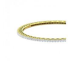 Natural Diamond Bangles 4.40 CT / 16.65 gm Gold