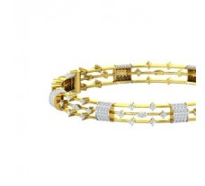 Natural Diamond Bangles 2.44 CT / 36.00 gm Gold