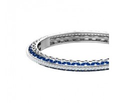 Natural Diamond With Enamel Bangles 2.72 CT / 25.32 gm Gold
