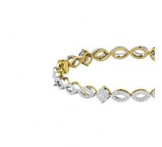 Natural Diamond Bangles 2.80 CT / 17.92 gm Gold