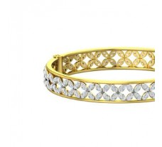 Natural Diamond Bangles 5.90 CT / 20.95 gm Gold