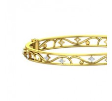 Natural Diamond Bangles 0.72 CT / 15.27 gm Gold
