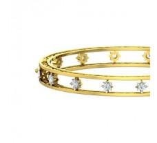 Natural Diamond Bangles 0.96 CT / 22.00 gm Gold