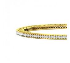 Natural Diamond Bangles 2.54 CT / 18.26 gm Gold