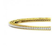 Natural Diamond Bangles 2.54 CT / 18.08 gm Gold
