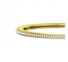 Natural Diamond Bangles 2.54 CT / 18.90 gm Gold