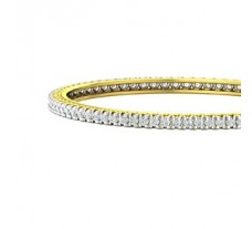 Natural Diamond Bangles 3.75 CT / 22.00 gm Gold