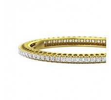 Natural Diamond Bangles 6.50 CT / 33.23 gm Gold
