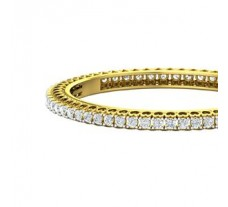 Natural Diamond Bangles 8.12 CT / 36.57 gm Gold