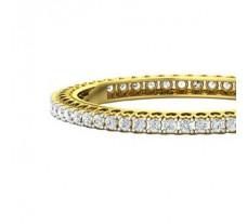 Natural Diamond Bangles 10.92 CT / 35.75 gm Gold