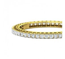 PreSet Natural Solitaire Diamond Bangles 14.40 CT / 42.30 gm Gold