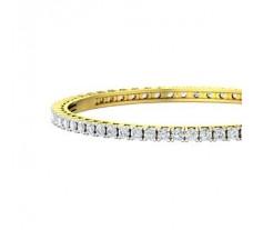 Natural Diamond Bangles 6.00 CT / 25.00 gm Gold