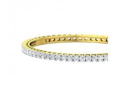 Natural Diamond Bangles 7.56 CT / 34.50 gm Gold