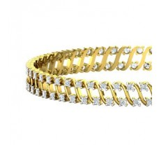 Natural Diamond Bangles 3.50 CT / 23.90 gm Gold