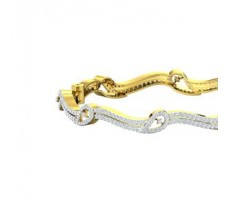 Natural Diamond Bangles 3.38 CT / 22.00 gm Gold
