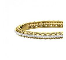Natural Diamond Bangles 5.87 CT / 17.10  gm Gold