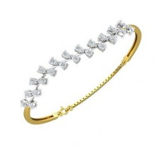 Natural Diamond Bracelets 1.23 CT / 9.33 gm Gold