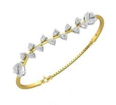 Natural Diamond Bracelets 1.18 CT / 9.54 gm Gold