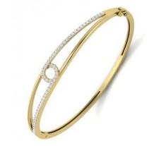 Natural Diamond Bracelet 0.65 CT / 12.50 gm Gold