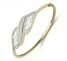 Natural Diamond Bracelet 1.51 CT / 17.00 gm Gold