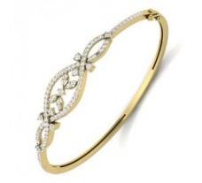 Natural Diamond Bracelet 1.36 CT / 14.00 gm Gold