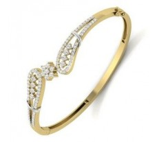 Natural Diamond Bracelet 1.21 CT / 15.00 gm Gold