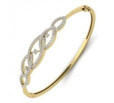Natural Diamond Bracelet 1.20 CT / 14.00 gm Gold