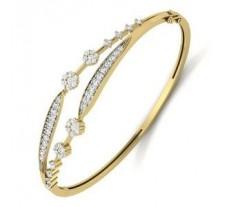 Natural Diamond Bracelet 1.14 CT / 16.00 gm Gold