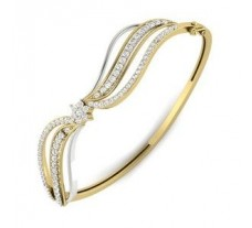 Natural Diamond Bracelet 1.45 CT / 18.00 gm Gold
