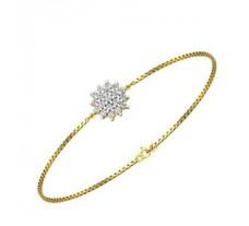 Natural Diamond Bracelet 0.21 CT / 3.75 gm Gold