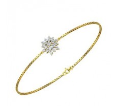 Natural Diamond Bracelet 0.41 CT / 4.25 gm Gold