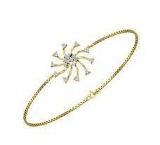 Natural Diamond Bracelet 0.31 CT / 4.30 gm Gold